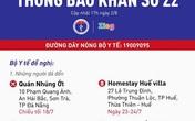 Khẩn cấp tìm người trên chuyến bay, khách sạn, quán cafe ở Huế, Đà Nẵng, Hội An có người mắc COVID-19