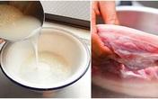 Làm sạch thịt: Đừng chần, giữ lại thứ nước này để rửa, thịt không những sạch bong mà mềm thơm vô đối