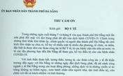 Chủ tịch Đà Nẵng gửi thư cảm ơn Bộ Y tế
