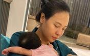Cường Đô La hạnh phúc khoe khoảnh khắc bà xã Đàm Thu Trang chăm con gái, mặt mộc của mẹ bỉm gây bất ngờ