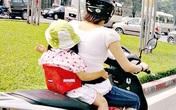 Những rủi ro khi chở con nhỏ đi xe máy và những quy tắc nằm lòng cha mẹ buộc phải biết