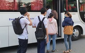 Chuyến xe từ khu vực phong toả do dịch Covid-19 đến điểm thi tốt nghiệp của các thí sinh tại Đà Nẵng