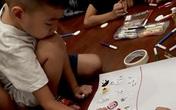 Thú vị cảnh học sinh vẽ chú tinh trùng và nàng trứng