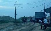Kéo máy bơm để rửa máy nâng cát, một công nhân bị điện giật tử vong