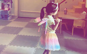 Mới 3 tuổi nhưng con gái Tăng Thanh Hà đã lộ rõ vẻ nữ tính và ngọt ngào