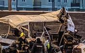 Xe tải lao vào đoàn xe chở lính Nga, hàng chục người thương vong