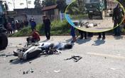 Phú Thọ: Xe máy đấu đầu xe tải khiến 2 người tử vong