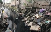 """Hà Nội: Dân Thụy Khuê """"khốn khổ"""" sống cùng """"bể phốt lộ thiên"""" dài 3km xây gần 10 năm vẫn chưa hoàn thiện"""