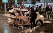 Nghệ An: Kinh hoàng xe bán tải đâm nát đuôi xe taxi dừng đèn đỏ, nữ hành khách nguy kịch