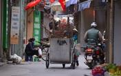 Sau Tết, công nhân vệ sinh môi trường vất vả thu gom đào, quất bị vứt đầy đường