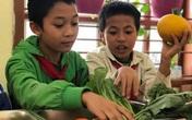 Học sinh thích thú khi giờ học là bắt sâu, là su hào, bắp cải, khoai tây...