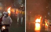 Tài xế ô tô bỏ chạy sau khi đâm xe máy bốc cháy có thể bị truy cứu trách nhiệm hình sự