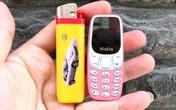 Điện thoại nhỏ như chiếc bật lửa bung hàng khắp các sàn thương mại điện tử hút khách mua ầm ầm