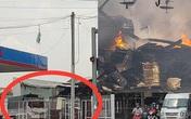 Quán cà phê cạnh cây xăng phát hỏa, nhiều người hoảng loạn tháo chạy