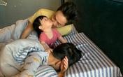 Hài hước cảnh Cường Đô La và Subeo đang ngủ say bị út cưng Suchin kéo áo, níu tóc đánh thức
