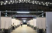 """Cận cảnh bệnh viện dã chiến tại """"điểm nóng"""" Bắc Giang đã hoàn thiện 99%, chuẩn bị hoạt động"""