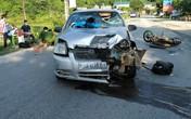 Xe máy đấu đầu ô tô, một người tử vong
