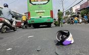Lạnh gáy với hiện trường xe máy va chạm xe buýt ở Đồng Nai