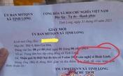 Hoài Linh lại gây tranh cãi trước chi tiết khó hiểu này trong giấy gửi quà từ thiện đến tay người dân miền Trung