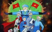 Con đường tranh bích họa dài gần 100m cổ vũ Việt Nam chiến thắng COVID-19 đầu tiên ở Hà Nội