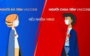 Sự khác biệt rất lớn giữa người nhiễm SARS-CoV-2 đã tiêm và chưa tiêm vaccine