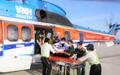 Trực thăng chuyển trung tá bị nhồi máu cơ tim từ Trường Sa về đất liền điều trị