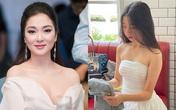 Nhan sắc tuổi thiếu nữ của con gái Hoa hậu Nguyễn Thị Huyền