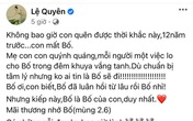 Lệ Quyên bất ngờ nhắc tới bố lúc 2h sáng, tâm sự hiếm hoi về đấng sinh thành đã mất khiến netizen xúc động