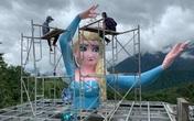 Đã tháo dỡ tượng Nữ hoàng Elsa tại Sa Pa