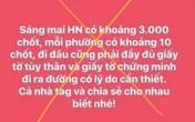 """Hà Nội xử phạt một cá nhân tung tin có 3.000 chốt kiểm soát COVID-19 """"giăng"""" khắp Thủ đô"""