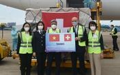 Tiếp nhận hơn 120 tỷ đồng trang thiết bị vật tư phục vụ công tác phòng chống dịch từ Thụy Sỹ