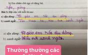 Học sinh tiểu học làm bài đặt câu khiến cô giáo phải bật cười
