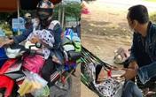 """""""Hành trình đặc biệt"""" của những đứa trẻ ngồi xe máy theo bố mẹ về quê tránh dịch"""