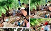 """21 nam, nữ vào rừng nhậu rồi """"khoe"""" trên Facebook"""