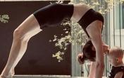 Hồ Ngọc Hà tập yoga để cơ thể, tâm trí bình an