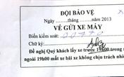 """Giá vé trông xe """"trên trời"""" tại SVĐ Mỹ Đình"""