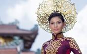 Trương Thị May dịu dàng trong bộ quốc phục ở Hoa hậu Hoàn vũ