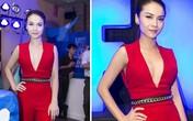 Những bộ váy áo cổ chữ V sâu hun hút của Yến Trang