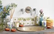 Phòng tắm ngọt ngào với phong cách vintage