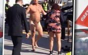 Khỏa thân gây sự với phi công giữa đường băng
