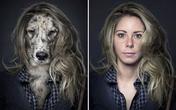 Chó trưng diện giống chủ nhân chụp ảnh chân dung