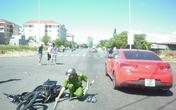 Ô tô và xe máy chạy tốc độ nhanh lao vào nhau