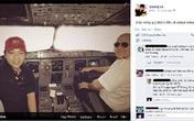 Quang Lê vào buồng lái máy bay chụp ảnh giống Lý Nhã Kỳ