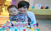 Bằng Kiều hạnh phúc cùng vợ tổ chức sinh nhật con trai