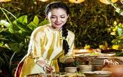 Linh Nga đài các trong thiết kế áo dài cách điệu của em gái nhạc sĩ Trịnh Công Sơn