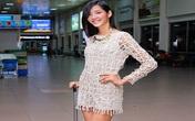 Hoàng Thùy xuất hiện nổi bật tại sân bay