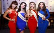 Hà Anh diện váy xẻ ngực gợi cảm bên các hoa hậu Miss Global