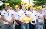 Hoa hậu Trần Thị Quỳnh xuất hiện sau sự cố đeo băng sai tên nước