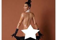 """Kim Kardashian gây sốc khi khoe vòng 3 trứ danh """"trần trụi"""" trên tạp chí"""
