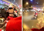 Thiếu nữ diện áo trong suốt lộ nội y giữa trời rét trên phố Hà Nội